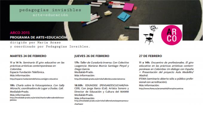 Agenda Marzo: ARCO 2015 Programa Arte +Educación