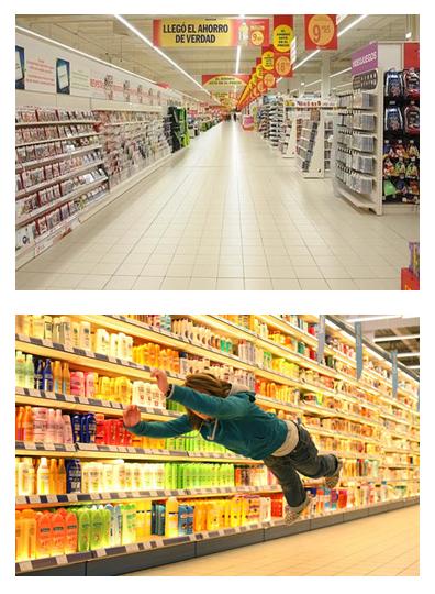 3. Analogías visuales entre el espacio comercial y el dispositivo artístico de Denis-Darzacq.